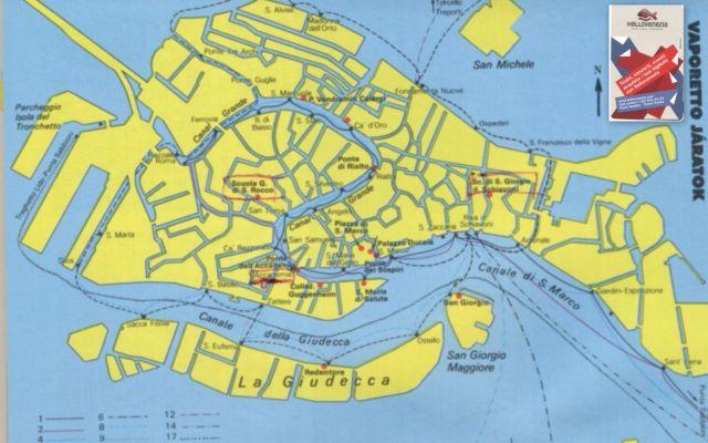 Velence térkép-jegy