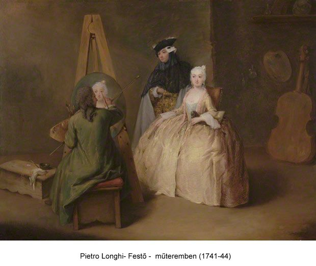 longhi_painter in his studio 1741-44