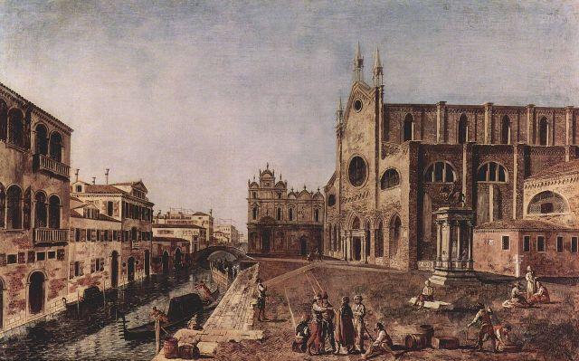 Michele_Marieschi_La chiesa nel 1731