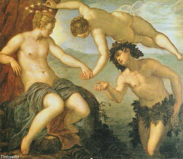 Tintoretto -Lo sposalizio di Bacco e Arianna alla presenza di Venere
