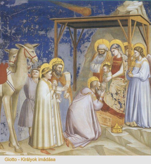 Giotto -Királyok imádása