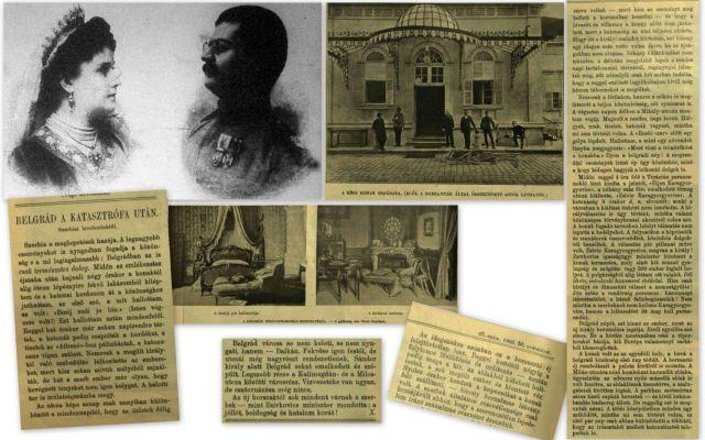 szerb király gyilkosság kollázs