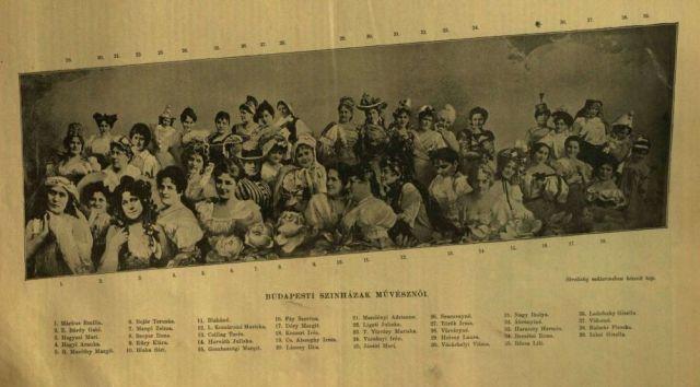 Budapesti szinésznők VU, 1900. 40