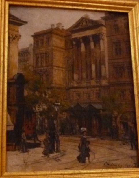 Háry Gyula Nemzeti színház 1901, fa ,olaj - Kiscelli múzeum P1520458