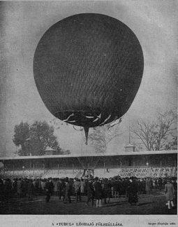 VU 1903 Turul léghajó felszállásakor 1903. ápr.3.