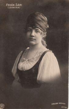 Fedák -Népszínház Leányka szerepében 1906 - Strelisky felvétel