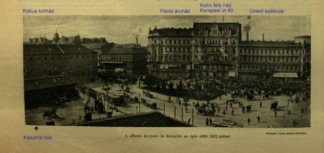 Párisi áruház égése VU 1903 250