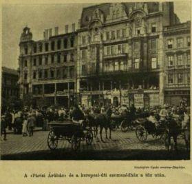 Párisi áruház égése VU 1903 aug.25. kiégve