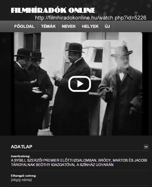 Beöthy és a Sybill szerzői 0- ősbemurtató 1914. 02.27.