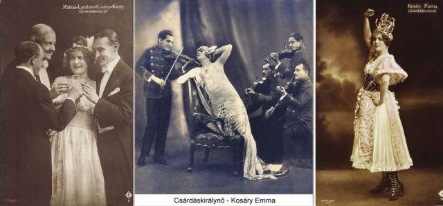 Csárdáskirálynő, 1916, -kollázs