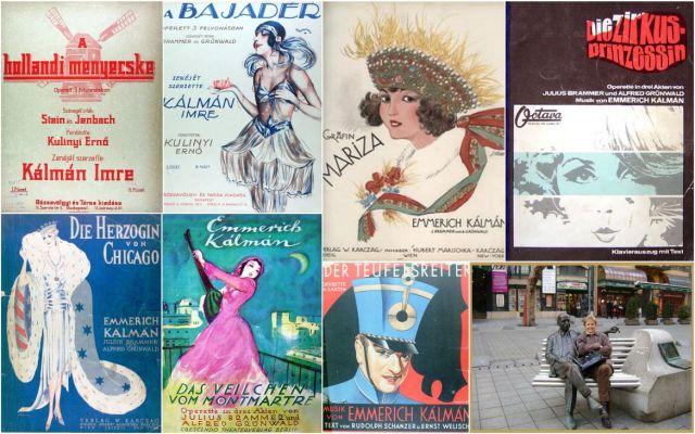 Kálmán operettek plakátjai 1915 -től