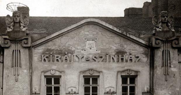 Király színház épület, homlokzat 1904