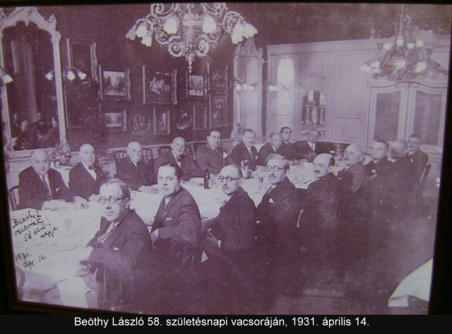Beöthy László 1931 vacsora Bajor Gizi Színészmúzeum 074
