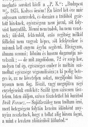 Deák levél 1875