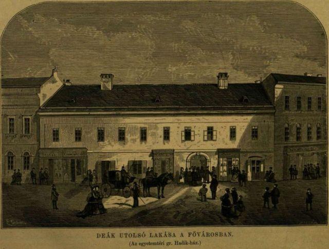 Deák utolsó lakása, VU 1876. febr. 6.