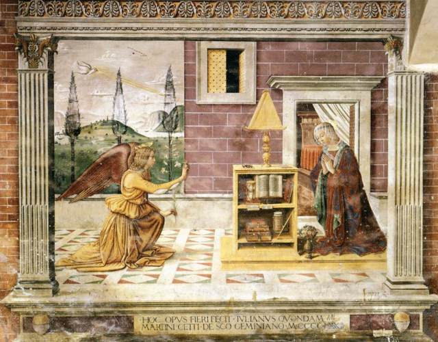 Annunciation -Domenico_Ghirlandaio - v. Sebastiano _Mainardi-_WGA08776