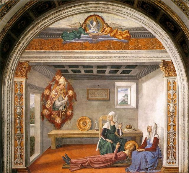 Domenico_Ghirlandaio_-_Announcement_of_Death_to_St_Fina_-_WGA08755
