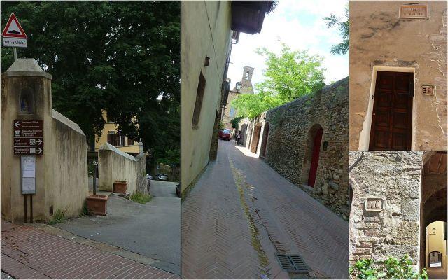 San Gimignano falak, agyagtáblák