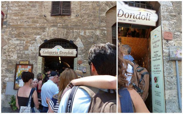 San Gimignano, Gelateria Dondoli