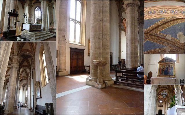 Pienza Santa Maria Assunta katedrális, kollázs