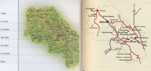 Siena tartomány, domborzati