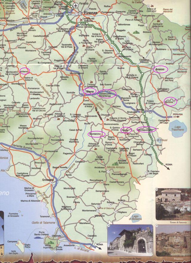 toscana tkp részlet, utvonal terv