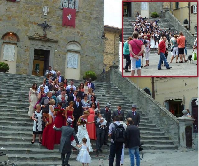Cortona, városházi esküvő
