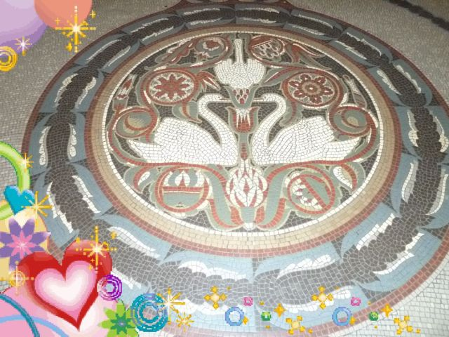 Gellért fürdő központi csarnok, mozaik P1550624