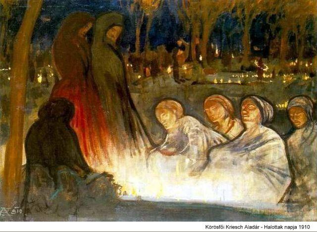 Körősfői Kriesch Aladár - Halottak napja (1910)