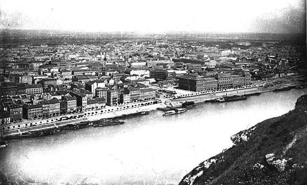 1877 dunapart, híd nélkül még