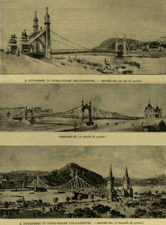 1893. A 2 híd pályatervei