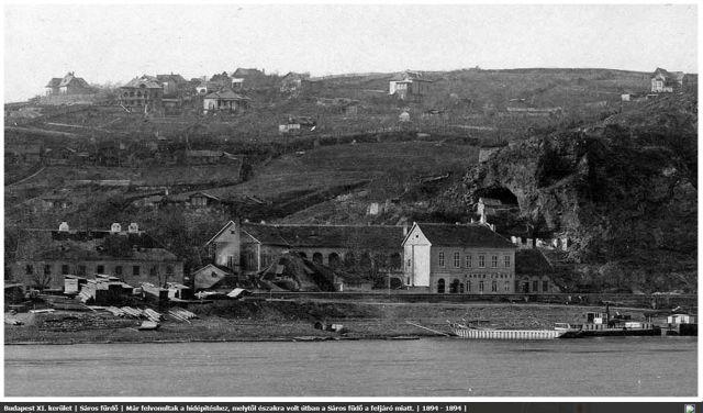 1894 Sárosfürdő bontása , egykor.hu 03.jpg