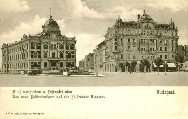 1905 Műegyetem kémiai épülete és az Eraviszkusz ház