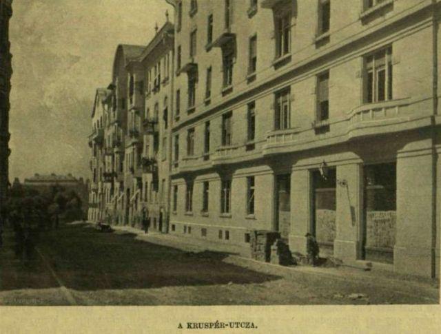 1910.aug.7. új városrész épül -Kruspér utca