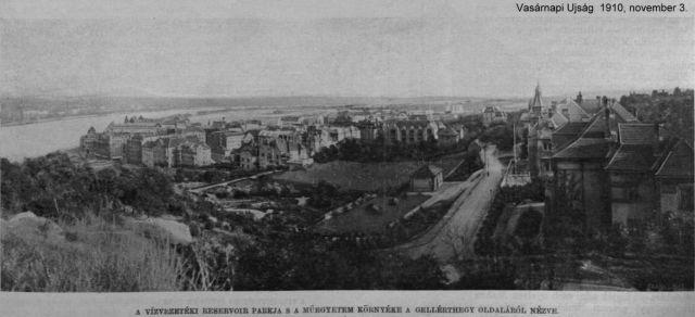1910 Gellérthegy oldalából víz reservoir VU 1910 2015-11-03, Duna ág