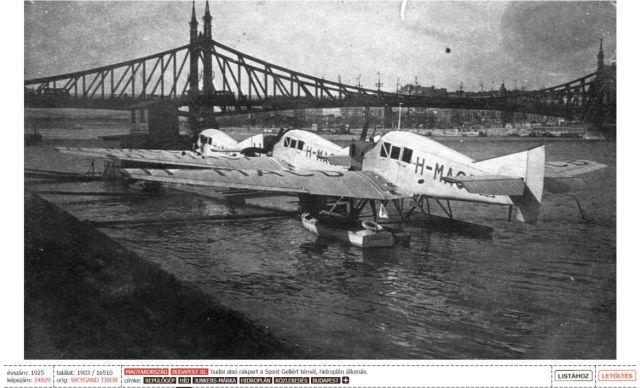 1925-Hidroplán állomás a Gellért térnél
