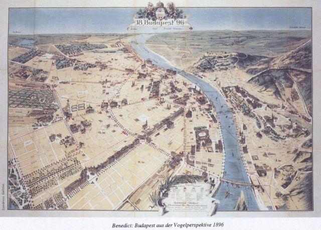 Budapest madártávlatból 1896