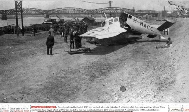 Déli összekötő vasúti sín 1923, - Forrás Fortepan