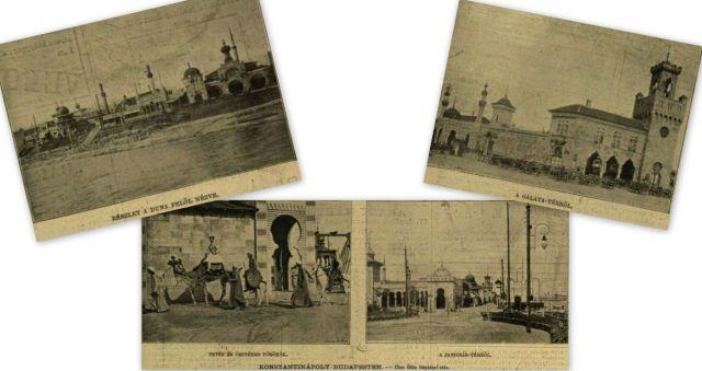 Konstantinápoly Bp-en, kollázs - VU. 1896. szept.6.