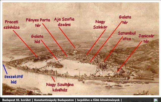 Konstantinápoly Bp-en - látkép, txt