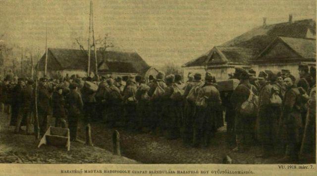 1918. márc. 7. _Hazatérő hadifoglyok