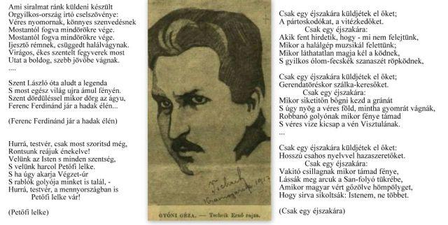 kollázs, Gyóni