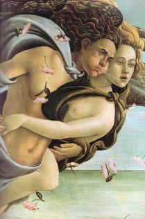 Boticelli - Vénusz születése, részlet