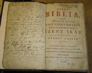 Berzsenyi biblia
