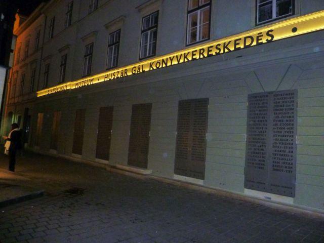 Evangélikus Múzeum P1560628 -utca, esti
