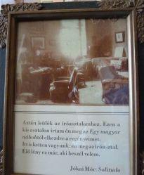 Bfüred, Jókai villa P1160319 - Íróasztal solitudo