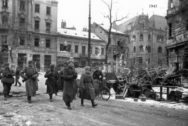 Üllői út- Nangykörút, 1945, Fortepan