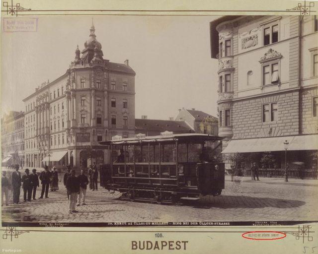 Üllői út- Nangykörút, Klösz György, Fortepan
