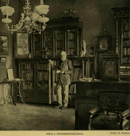 Erdélyi Mór fotó -Jókai dolgozószobájában VU 1893. 53.sz.