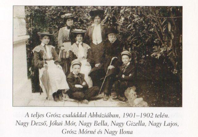 Grósz család 1901-02 Forrás Jókai Mór - Budapestnek emlékül